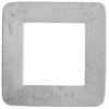 Metal Blank 24ga German Silver Washer-square 30mm with 17mm Hole